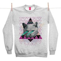 Street Market — Ohh Deer - Pastel - Grey Sweater By Kris Tate