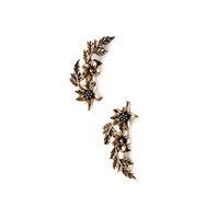 Floral-Etched Ear Pins
