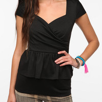 Pins and Needles Surplice Peplum Top