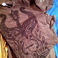 Tim Lee Artwork Store  Winged Mandolin  Coffee, Uni XL &amp; Women Cap Tees are back in stock