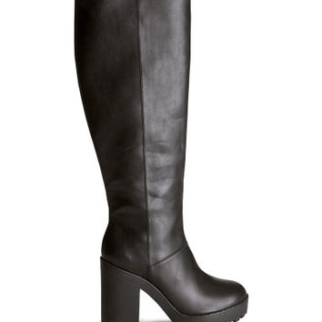 Knee-high Platform Boots - from H&M