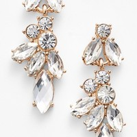 Junior Women's BP. Crystal Drop Earrings - Crystal