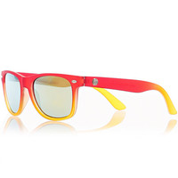 River Island Boys red and yellow frame sunglasses