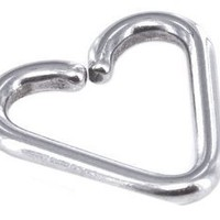 18 gauge Earring-Tiny Heart Captive Ring-18 gauge 5/16 inch Heart Shaped Cartilage Earring-Tragus Jewelry: Jewelry: Amazon.com