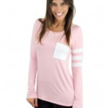 Pink Top With Pocket