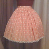 Pink and White Polkadot Lolita Skirt