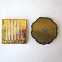 Helene Curtis and Avon Makeup Compacts - Vintage