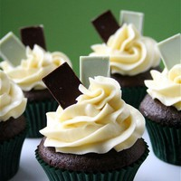 The Curvy Carrot   Mint Chocolate Cupcakes
