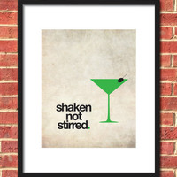 Shaken Not Stirred Martini Glass Print