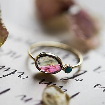 Dream Collective for Free People Womens Watermelon Slice Ring - Gold