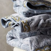 Mirta Towel Collection by Anthropologie Slate