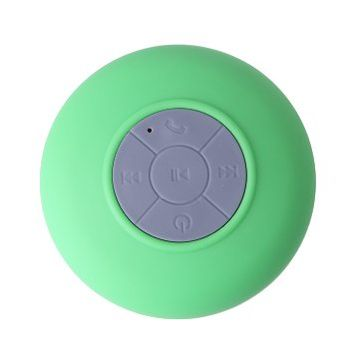HDE Mini Portable Waterproof Rechargeable Wireless Bluetooth Suction Mount Shower Pool Marine Boat Speaker with Handsfree Calling (Green)