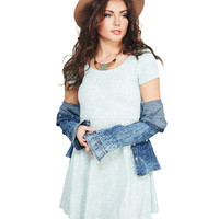 Girly Textured Lace Skater Dress | Wet Seal