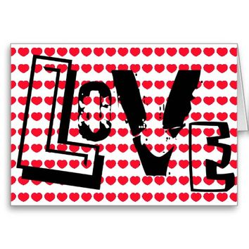 Love is the Word Hearts Valentine
