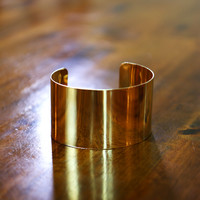 Single Gold Cuff - $15 - Default Title / Gold Alloy / One Size Fits Most