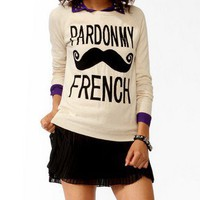 Pardon My French Sweater | FOREVER 21 - 2027706000