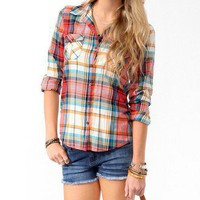 Double Pocket Madras Shirt | FOREVER 21 - 2016594921