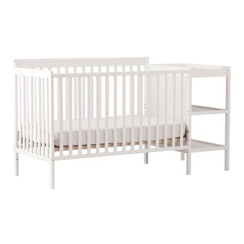 Stork Craft Milan 2-in-1 Fixed Side Convertible Crib Changer