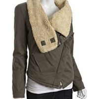 Marc New York olive cotton faux sherpa insulated jacket | BLUEFLY up to 70% off designer brands
