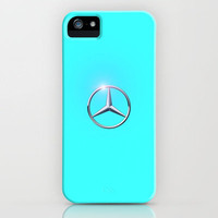Mercedes symbol teal iPhone Case by JT Digital Art  | Society6
