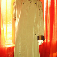 Amaizing Vintage GALLERY Hooded Trench Raincoat  W Double Lining  Brown Size 12 Very Long