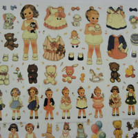 Transparent Stickers doll and accessories Set Six different Sheets Qty App 72