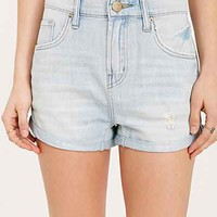 BDG Low-Rise Slouchy Boyfriend Short - Light Blue- Vintage Denim Medium