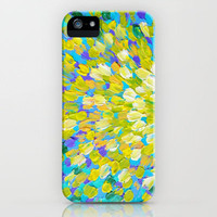SPLASH 2 - Bright Bold Ocean Waves Beach Ripple Turquoise Aqua Lime Lemon Colorful Rainbow Wow iPhone Case by EbiEmporium | Society6