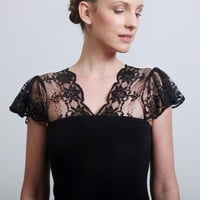 Super sexy little black dress with lacy flutter cap by elbling