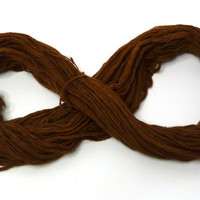 Brown thin yarn merino wool, 1 ply spun, eco friendly hand dyed, clothing, knitting, crochet