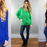 Perfect Dolman Top in 13 colors!