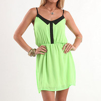 Kirra Neon Collar Tank Dress at PacSun.com