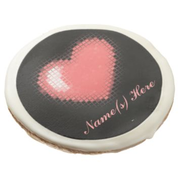 Tiled Mosaic Heart (Pink) Sugar Cookie