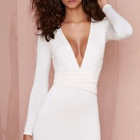 Nasty Gal Alina Dress - Ivory