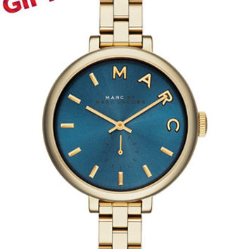 Marc by Marc Jacobs Women's Sally Gold Ion-Plated Stainless Steel Bracelet Watch 36mm MBM3366