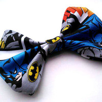 Psychobilly Small Hair Bow- Batman Comic