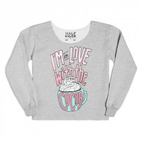 I'm in Love with the (Hot) Cocoa-Unisex Heather Grey Hoodie