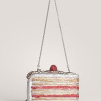 Judith Leiber - Cake Slice crystal-encrusted clutch | Multi-colour Evening Clutches | Womenswear | Lane Crawford - Shop Designer Brands Online