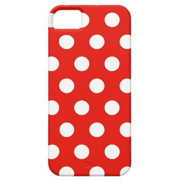 Red White Polka Dots - iPhone 5 Cover