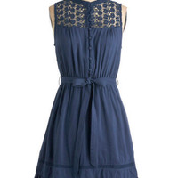 Mount San Jacinto Dress in Blue | Mod Retro Vintage Dresses | ModCloth.com