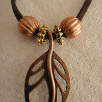 COOPER BRONZE LEAF NECKLACE