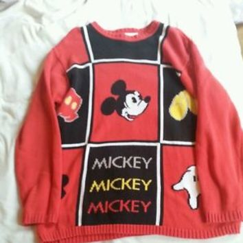 Vtg 90s Disney Mickey Mouse Sweater Size Large