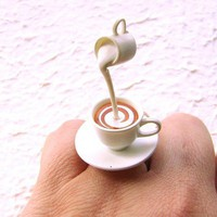 Kawaii Tea Ring Tea With Cream by SouZouCreations on Etsy