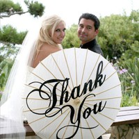 HandPainted Thank You Parasol most popular by iDoOriginals on Etsy