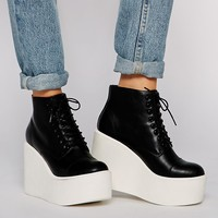 ASOS EDITOR Wedge Ankle Boots