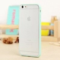 Umiko(TM) Mint iphone 5 5S Bumper TPU Bumper Frame With Matte Clear Hard Back Skin Cover Case for iPhone 5 5S - Mint Green