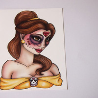 Day of the Dead Belle Postcard