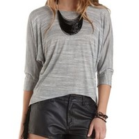 Crisscross Back High-Low Top by Charlotte Russe