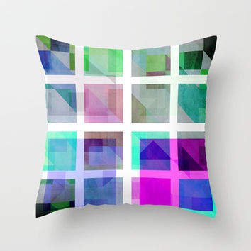 January Cubes Throw Pillow by SensualPatterns
