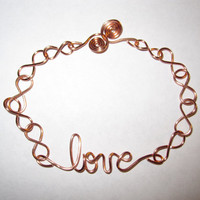 Love Bracelet Infinity Copper Wire Wrapped